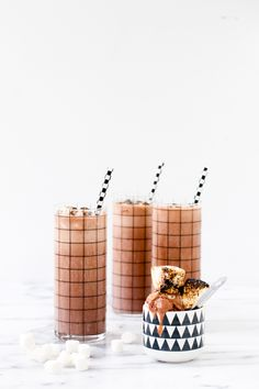 Recipe // Rocky Road Milkshake with Toasted Marshmallow Sprinkles