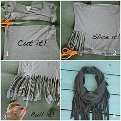 Cute idea to make use of shirts no longer worn. I like!