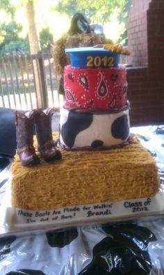 A Country Graduation Cake