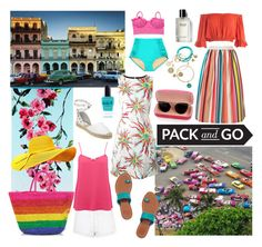 """Pack and go -rainbow beach"" by kc-spangler ❤ liked on Polyvore featuring Ash, Designers Guild, Alice + Olivia, Topshop, Sans Souci, American Vintage, FAUSTO PUGLISI, Tory Burch, Sensi Studio and nikki lissoni"