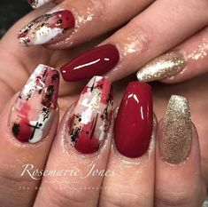 Elevate Your Beauty Game With These Chic Abstract Nail Art Designs manicure style art ideas art style design nail arts nails nail art Red Nail Designs, Acrylic Nail Designs, Acrylic Nails, Red Nail Art, Red Nails, Painted Nail Art, Pastel Nails, Bling Nails, Sassy Nails