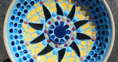 When I purchased a ceramic birdbath from the second hand store a few years ago, my intention was to mosaic the bowl and the detachable base ...