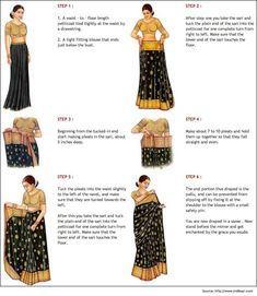 Nivi Saree Draping Style method