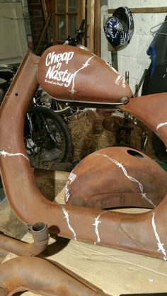 Rusty Rat Rod Vespa