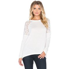 Jack by BB Dakota Nevin Top Tops ($52) ❤ liked on Polyvore featuring tops, fashion tops, white top, bb dakota top, bb dakota and rayon tops