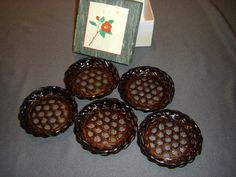 Vintage Woven Coasters made in Japan by plarnstar on Etsy, $7.50