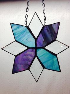 Ice+blue+and+purple+bevel+stained+glass+by+RoseGlassCreations,+$22.00