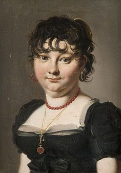 Louis Léopold Boilly - Portrait de femme au collier de corail