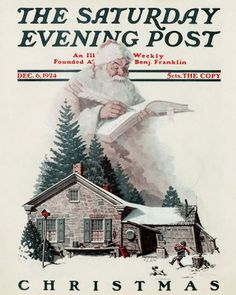 Santa Christmas List   by Norman Rockwell from 1924