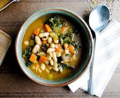 Potaje de alubias blancas con verduras | #Receta de cocina | #Vegana - Vegetariana ecoagricultor.com