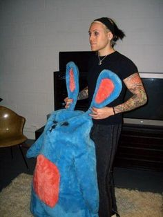 Davey Havok with a rabbit... of course! Who else remembers (and loves) the music video featuring this bunny?