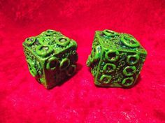 Large Cthulhu dice (pair)