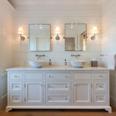Nantucket Home with New Coastal Interiors can find Nantucket and more on our website.Nantucket Home with New Coastal Interiors Beach Theme Bathroom, Beach Bathrooms, Small Bathroom, White Bathroom, Neutral Bathroom, 1950s Bathroom, Luxury Master Bathrooms, Modern Bathrooms, Dream Bathrooms