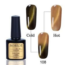 Cat Eye Temperature Change Color Double Effect Magnet Nail Gel Polish UV LED 108