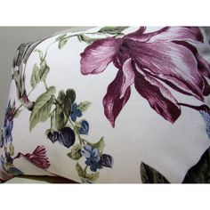 Floral Pillow, Floral Bed Pillow, Floral Pillow Cover, Floral... (26 BAM) via Polyvore featuring home, home decor, throw pillows, floral accent pillows, flowered throw pillows, floral throw pillows, floral home decor and floral toss pillow