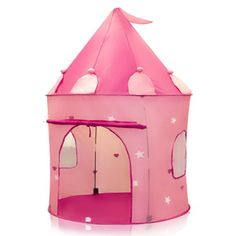 Sky Enterprise Usa Products - Pink Princess Castle Kids Play Tent Girl Fairy Play House - Instantly Sets Up In Minutes Pink Castle, Princess Castle, Pink Princess, Princess Party, Princess Playhouse, Princess Toys, Princess Birthday, 5th Birthday, Birthday Ideas