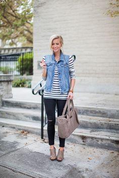 awesome Стильная джинсовая жилетка своими руками (50 фото) — Выкройки, мастер-класс