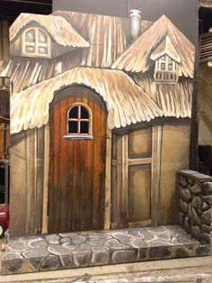 Beauty and the Beast set, theatrical painting