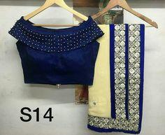 Trendy Saree Blouse Neck Designs - Kurti Blous e Saree Blouse Neck Designs, Choli Designs, Fancy Blouse Designs, Sleeve Designs, Stylish Blouse Design, Trendy Sarees, Designer Blouse Patterns, Blue Blouse, Sari Dress