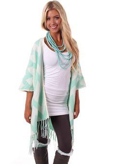 Lime Lush Boutique - Mint Chevron Knit Cardigan, $64.99 (http://www.limelush.com/mint-chevron-knit-cardigan/)