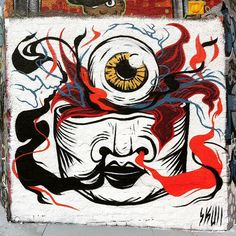 #maylane #newtown #graffiti #art #streetart #eyeball #skull