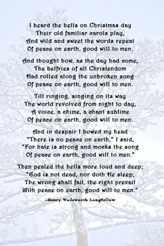 poems about christmas bells | Christmas Bells Henry Wadsworth Longfellow