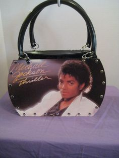 MICHAEL JACKSON THRILLER VTG VINYL RECORD LP CONVERTIBLE TOTE PURSE  SHOULDER BAG 2d998db11aaf9