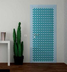 Door Decorating Ideas Modern and Contemporary Prints Blue mosaic