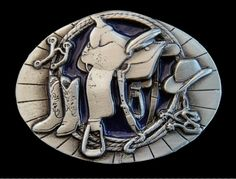 SADDLE WESTERN COWBOY COWGIRL RODEO BOOTS BELT BUCKLE PRICE $14.99