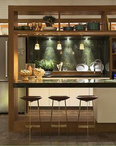 Small Kitchen Ideas: Smart Ways Enlarge the Worth Browse photos of Small kitchen designs. Discover inspiration for your Small kitchen remodel or upgrade with ideas for organization, layout and decor. Kitchen Bar Design, Home Decor Kitchen, Kitchen Furniture, Interior Design Living Room, Bar Kitchen, Furniture Plans, Kids Furniture, Kitchen Ideas, Small Kitchens