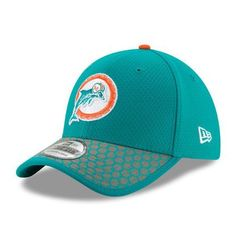 Men s Miami Dolphins New Era Aqua 2017 Sideline Historic 39THIRTY Flex Hat 431352fba