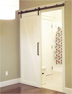 Sliding barn doors will definitely be in my future house! Such a cool look