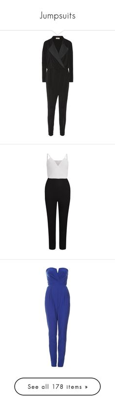 """Jumpsuits"" by giovanna1995 ❤ liked on Polyvore featuring jumpsuit, jumpsuits, tux jumpsuit, jump suit, tuxedo jumpsuit, wrap jumpsuit, by malene birger, playsuits / jumpsuits / overalls, black and romper jumpsuit"