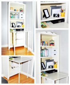 bookshelf-desk!! : http://www.quaintlygarcia.com/2012/01/bookcase-desk.html