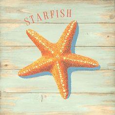 Starfish Vintage Metal Sign