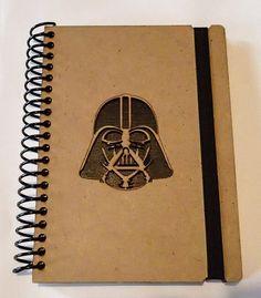Estrellas guerras notebook madera Darth Vader por NudoDiseno