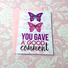 Sophia Butterfly Good Comment | JW Card | Kids Gift | Jehovah's Witnesses | JW | JW Printables