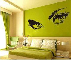 frete grátis: varejo de venda quente, sexy, olhos grandes adesivos de parede/ decoração