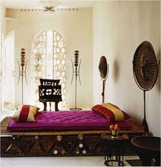 Amazing bedroom in Moroccan style from Elle Decor