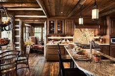 Log Home Interior. For my future cottage perhaps?