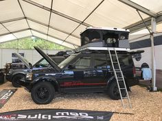 """Upgraded Discovery at the international """"Abenteuer Allrad"""" fair. Land Rover Discovery Off Road, Range Rover Sport, Offroad, Camper, Monster Trucks, Cars, Autos, Adventure, Caravan"""