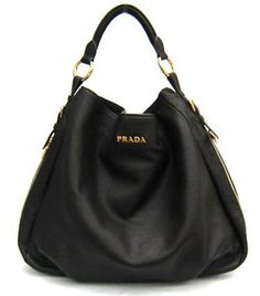 c8ba8474d33c Prada Bag Leather Hobo Black BR4099  Handbags  Amazon.com