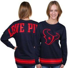 Houston Texans Big Time Crewneck Sweatshirt - Navy Blue