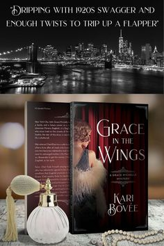 Dripping with 1920s swagger and enough twists to trip up a flapper, Grace in the Wings is a romance-fueled mystery with Manhattan skylines, unfettered ambition, and plenty of murder to go around. This roaringly good novel is a loving homage to an era, a captivating story of painful growth, and a twisted mystery that will leave you wanting an encore. #historicalmystery #broadway #FlapperFiction #HistoricalFiciton #roaringtwenties #flapper #1920s #newyork #romance #fiction