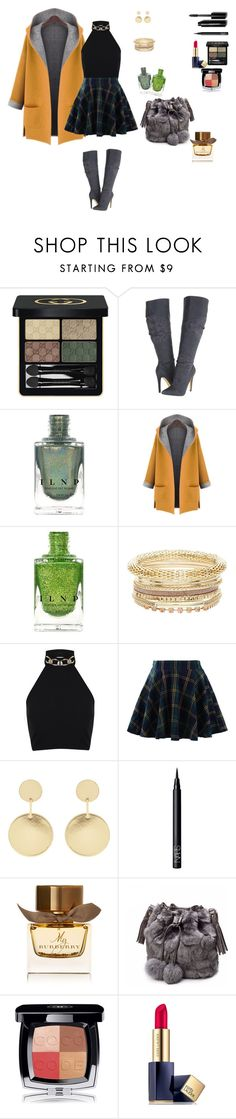 """Green winter details"" by clauxsanchex on Polyvore featuring moda, Gucci, Michael Antonio, WithChic, Miss Selfridge, Chicwish, Accessorize, NARS Cosmetics, Burberry y Chanel"