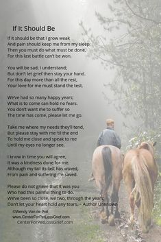 Our animals ultimately want us to feel the love they have for us. Grieving and mourning are important and necessary and this pet loss poem is a beautiful guide that expresses this part of your journey. Equine Quotes, Equestrian Quotes, Equestrian Problems, Dog Poems, Horse Poems, Pet Loss Quotes, Inspirational Horse Quotes, Pet Loss Grief, Horse Riding Quotes