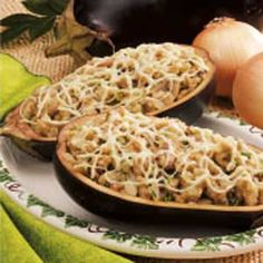 Eggplant with Mushroom Stuffing....so ready to plant eggplant in our garden.....