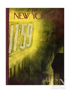 The New Yorker Cover - January 1, 1955 Premium Giclee Print