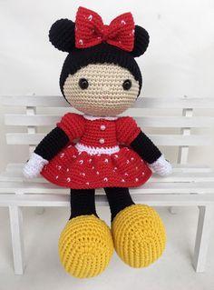 Amigurumi do Zero Crochet Mickey Mouse, Minnie Mouse, Crochet Animals, Crochet Hats, Amigurumi Tutorial, Amigurumi Doll, Baby Dolls, Needlework, Hello Kitty
