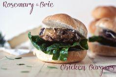 Rosemary Brie Chicken Burgers @Kita Roberts